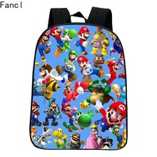 New Style Printing Super Mario Kindergarten Infantile Small Backpacks for Kids Baby Cartoon School Bags Children Schoolbag Boys9(China)