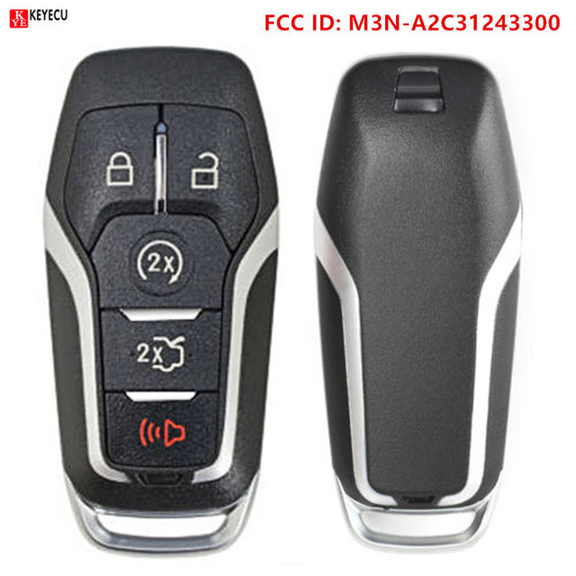 Keyecu M3N-A2C31243300 Remote Smart Prox key case 164-R8108 voor Ford Fusion Explorer edge Mustang 2017 2018 autosleutel shell
