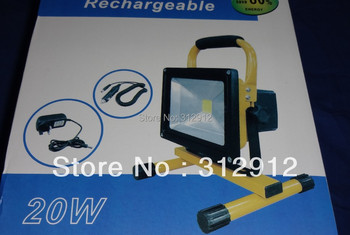 20W Chargeable LED FLood Light;with AC adaptor and car adaptor