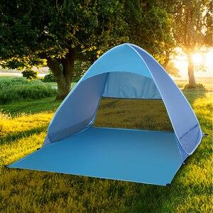 Image 5 - Lixada otomatik anında Pop Up plaj çadırı hafif açık UV koruma kamp balıkçı çadırı Cabana güneş barınak