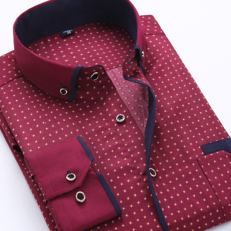 Casual long sleeved shirt Slim Fit 10