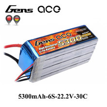 Gens ace Lipo Battery 6S 5300mAh 30C-60C Lipo 22.2V Battery Pack for Align Helicopter GAUI Airplane KDS Car Boat RC Accessories