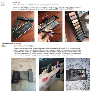 Image 5 - $3.99 Lucky แต่งหน้ากระเป๋าชุด 3 pcs ผลิตภัณฑ์สำหรับคุณภาพสูงอายแชโดว์,ใบหน้า,ริมฝีปากสุภาพสตรีแต่งหน้าชุดของขวัญ
