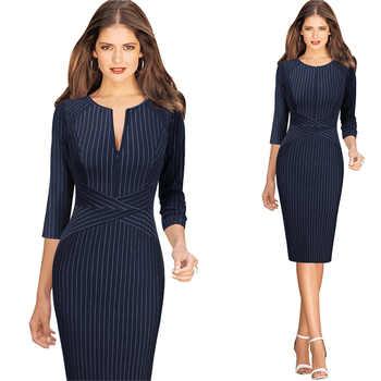 Vfemage Dresses Blue Three Quarter