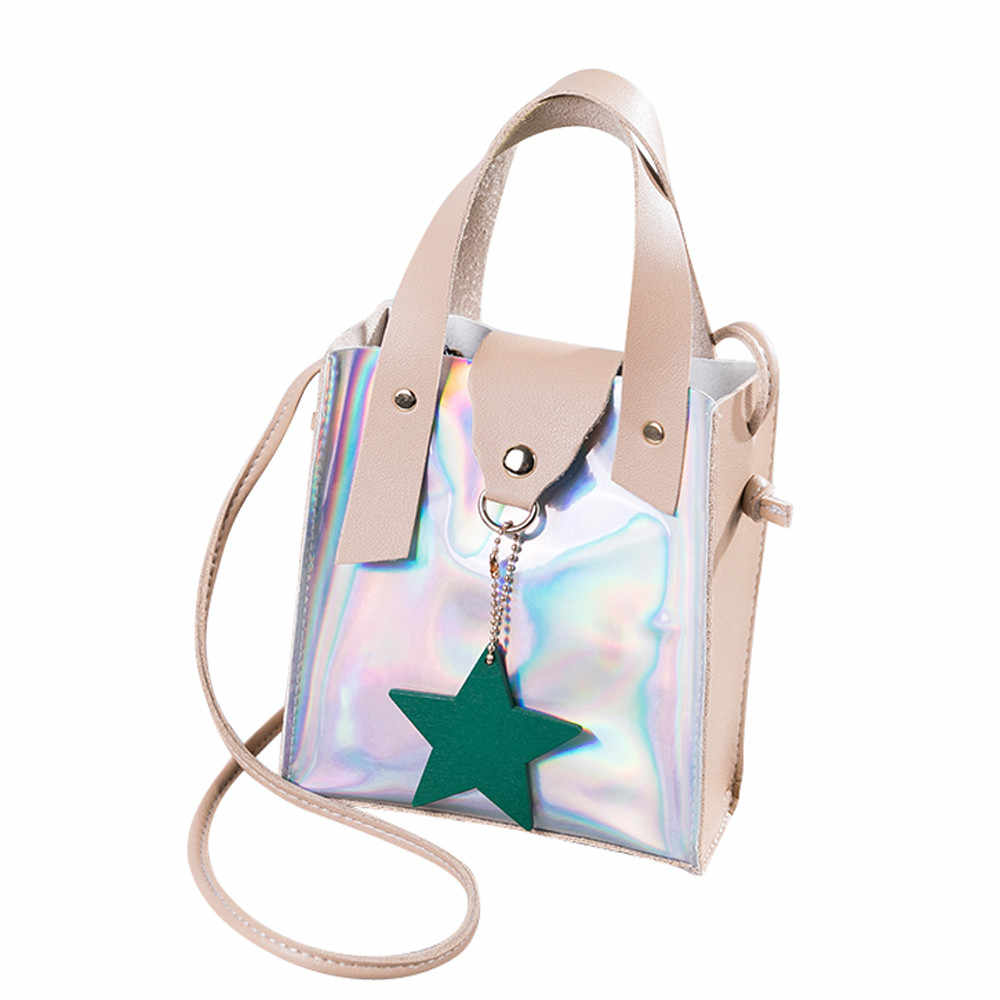 d03911eb4846 2018 Shoulder Bags For Women Clear Crossbody Bag Transparent Laser Mini  Messenger Bags Handbags Clear PVC sweet Jelly Totes