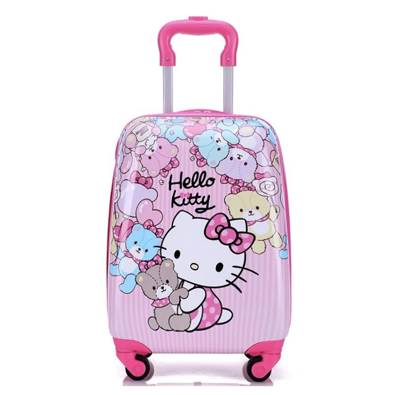 "Hello kitty Spiderman kid 16""18"" Luggage Travel 3D stereo Pull rod box children's suitcase cartoon PC anime trolley case"
