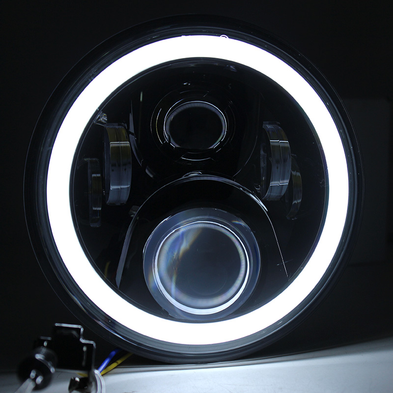red blue white angel eyes 7inch led headlight for honda. Black Bedroom Furniture Sets. Home Design Ideas