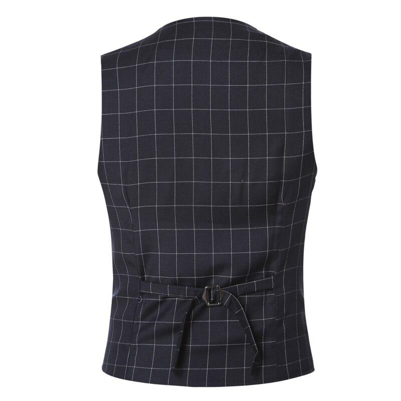 OnnPnnQ Men Suit Vests Autumn 2017 New Arrival mens slim fit Plaid woolen dress suit vest Waistcoat Casual Business vests Tops