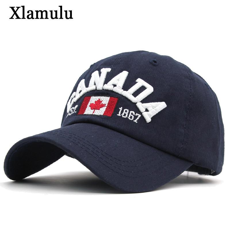 Xlamulu Women   Baseball     Caps   Hats For Men Band Snapback   Caps   Embroidery Canada Male Bone Hat Cotton Gorras Men Casual Casquette
