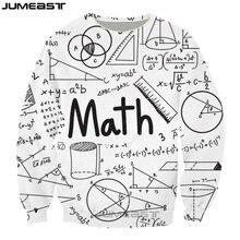 Jumeast New Funny Math Physics Formula 3d Printed Fashion Geometric Pattern Women/Men Long Sleeved Outerwear Sweatshirts Tops