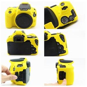 Image 4 - Gumowe silikonowe etui miękkie ciało obudowa ochronna skóry dla Canon EOS 200D 250D/200D II Rebel SL2 SL3 pocałunek X9 X10 lustrzanka cyfrowa