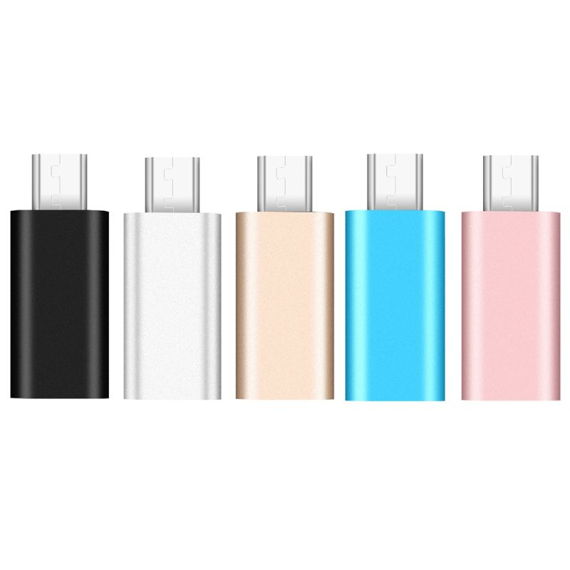 For IPhone 8 Pin Female To Micro USB Male Aluminium Alloy Charge Cable Converter Charging Connector Adapter For Android Phone