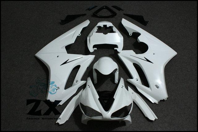 Carénages Non Peint Blanc + Noir Triumph Daytona Carénages Carrosserie Kit Pour Triumph Daytona 675 2009-2012 10 11 ZXMT