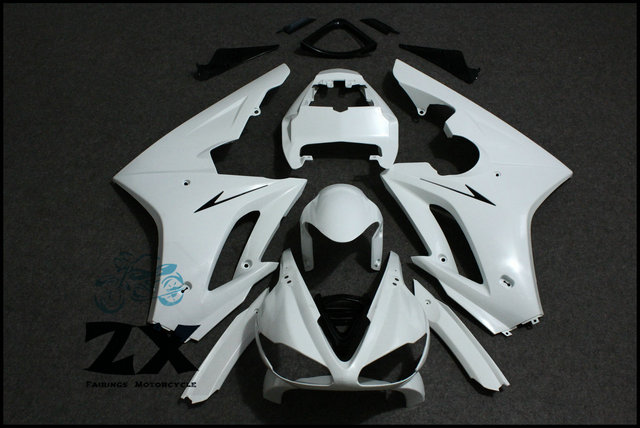 Carenature Non Verniciato Bianco + Nero Triumph Daytona Carenature Carrozzeria Kit Per Triumph Daytona 675 2009-2012 10 11 ZXMT