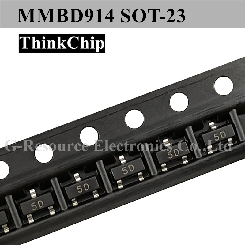 (100 Pcs) MMBD914 SOT-23 High-speed Switching Diode (Marking 5D)
