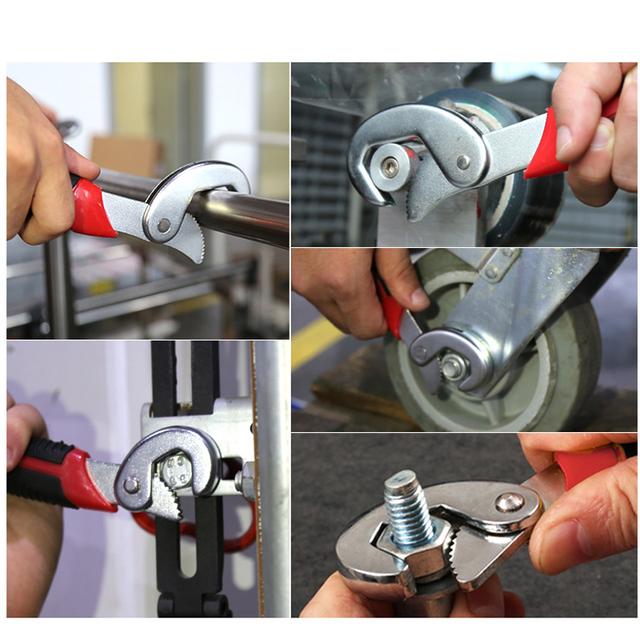 PROSTORMER Multifunction Universal Wrench Double End Wrench Set 2 Pcs Snap and Grip Adjustable Wrench High Torque 9-32mm Spaner 6