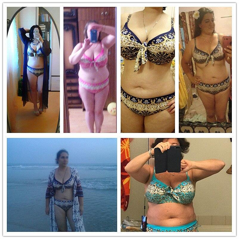 17 Women Plus Size Bikini Set Brazilian Push Up Women High Waist Swimwear Big Chest Swimsuit Plus Size Print Swimsuit 5XL 14