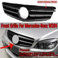 W204 Grill GT R GTR Car Front Upper Racing Grille Grill For Mercedes For Benz C Class W204 C180 C200 C300 C350 2008 2014