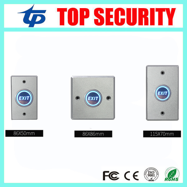 Free Shipping 5pcs A Lot Door Exit Button Exit Switch For Door Access Control System Zinc Alloy Door Push Exit Door Button
