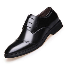 Men Shoes Leather Business Flat Oxfords Soft Casual Italian Shoes Black Brown Breathable Spring Autumn Dress Shoes(China)