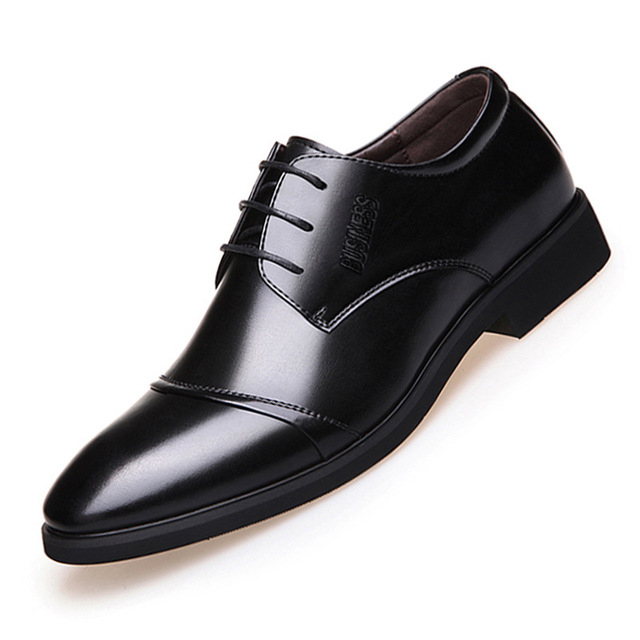e8ea17324 Men Shoes Leather Business Flat Oxfords Soft Casual Italian Shoes Black  Brown Breathable Spring Autumn Dress Shoes