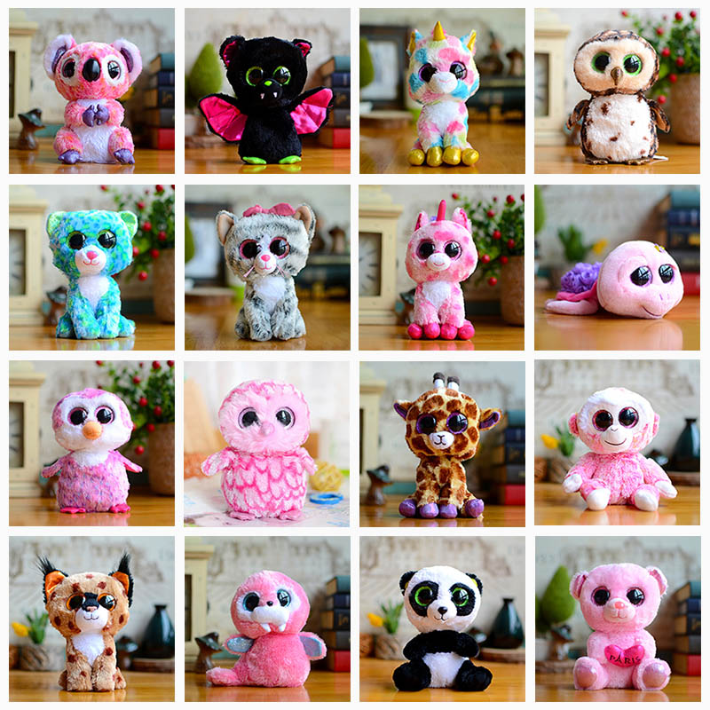 Wol Relic Panda Monkey Beanie Plush Doll Ty Boos Toys for Girl Doll Tortoise Bat Cute Animal Owl Unicorn Cat Christmas Kids Gift Car phone