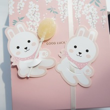 multi-use 25pcs lollipop cover smile rabbit baby shower children birthday candy decorate party Christmas gift packaging DIY tag