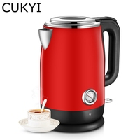 CUKYI Electric Kettle Stainless Steel Household Water Heathing Device Temperature Display 1 7L 1800W Auto Power