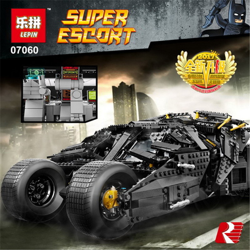 LEPIN 07060 Super Hero Movie Series The Batman Armored Chariot Set 76023 Educational Building Block Brick Boy Toys Gifts hot compatible legoinglys batman marvel super hero movie series building blocks robin war chariot with figures brick toys gift
