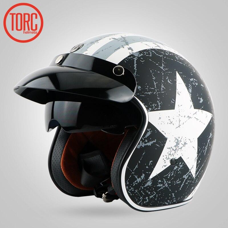 TORC helmet Motorcycle Motorcross helmet/ Motorbike Jet Vintage helmet/Open face retro 3/4 half helmet/T57 ,ECE Free shipping free shipping fiber glass open face 3 4
