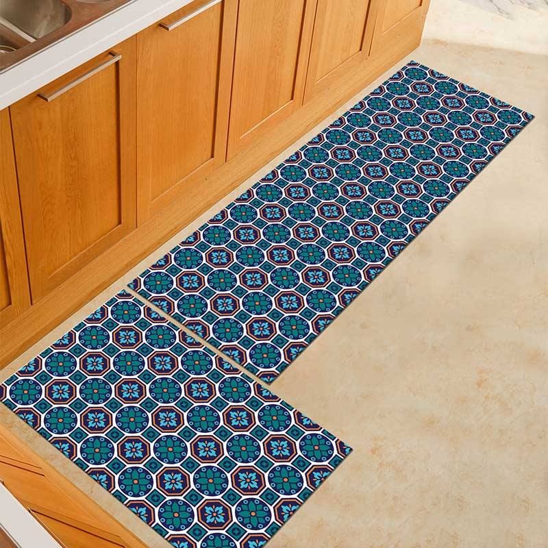 2PCS Kitchen Mats Made With Polyester Material for Modern Kitchen Balcony and Hallway Floor 11
