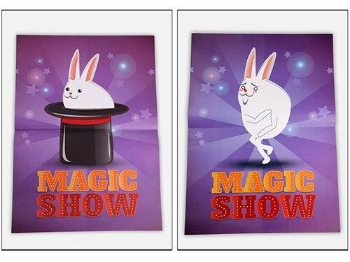 Chapeau haut-de-forme spectacle de magie tours de magie comédie scène magique chapeau magicien apparaissant de l'affiche Magia Gimmick accessoires de magie amusant pour Magicans