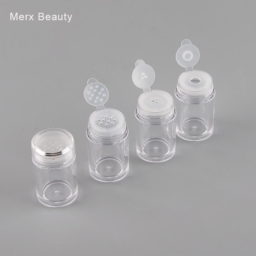10/50PCS 10ML Clear AS Plastic Jar Container For Loose Power Glitter Eyeshadow Powder With Flip Sifter Refillable Packing Bottle 100ml plastic containers for cosmetics travel bottle aluminium tins refillable bottle eyeshadow makeup box powder container