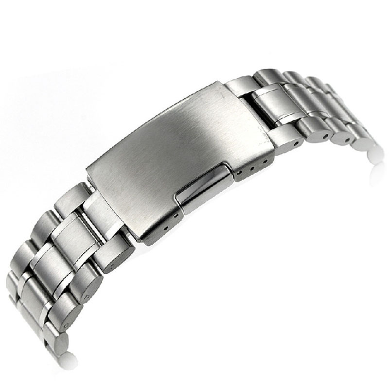 lowest price 2017 hot sales! 24mm Stainless Steel Bracelet Watch Band Strap Straight End Solid Links correa de reloj high quality lowest price wholesale kz 19 pneumatic combination steel metal strapping packing machine for 19mm steel strap tape
