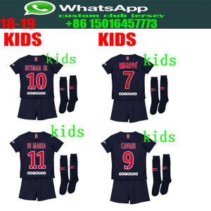 5b76f34b6 best quality 2018 2019 PSG kids soccer Jerseys MBAPPE camisetas shirt  survetement child Football shirt. kit+sock Free Shipping