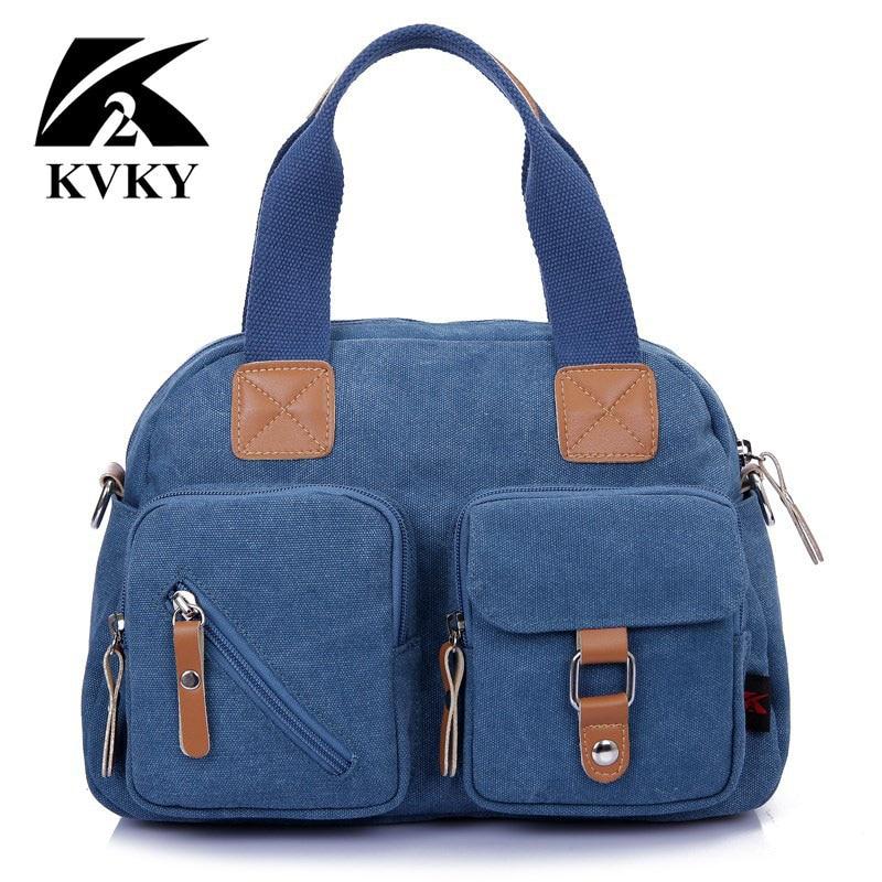 KVKY New Hot sale high qualtiy canvas women bags handbags shoulder bags lady messenger bag casual tote crossbody bolsa feminina цена