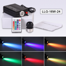 On sale Free shipping High brightness 16W fiber optic LED light engine with 24key RF remote control