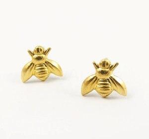 Image 1 - 30 זוגות אופנה דבש דבורת עגילי זעיר דבורת דבש צרעה עגילי וודלנד חרקים טוס ציפור דבש Bumble Bee stud עגילים
