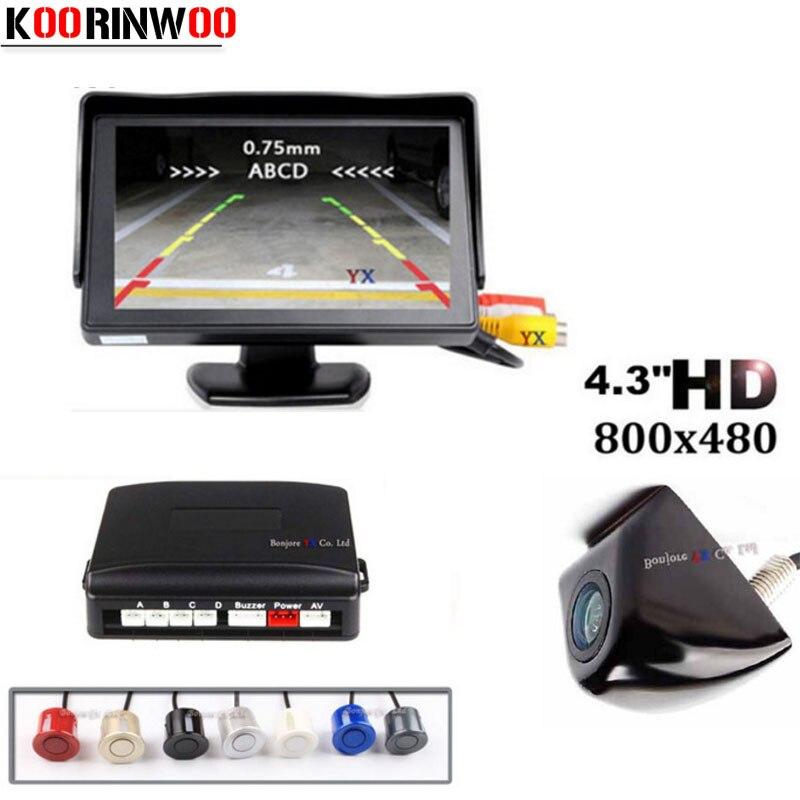 Автомобильный парктроник Koorinwoo CCD, TFT ЖК-монитор, камера заднего вида, датчик парковки, IP68 помощь