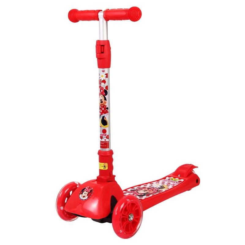 Trottinette de roue clignotante Disney minnie trottinette intelligente de transport urbain pliable Portable pour les fillesTrottinette de roue clignotante Disney minnie trottinette intelligente de transport urbain pliable Portable pour les filles