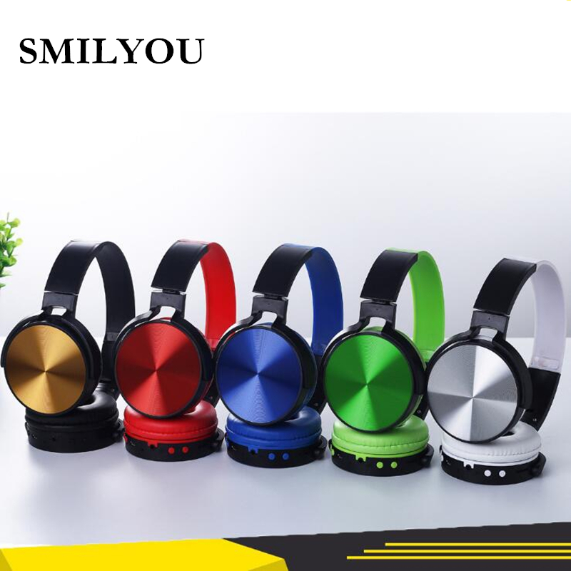 SMILYOU v4.2 Wireless Headphones metal Bluetooth Headset Earphone Headphone Earbuds Earphones With Microphone For PC phone music ytom bluetooth headphones earphone wireless headphone with microphone low bass headset earphones for computer phone sport pc mp3