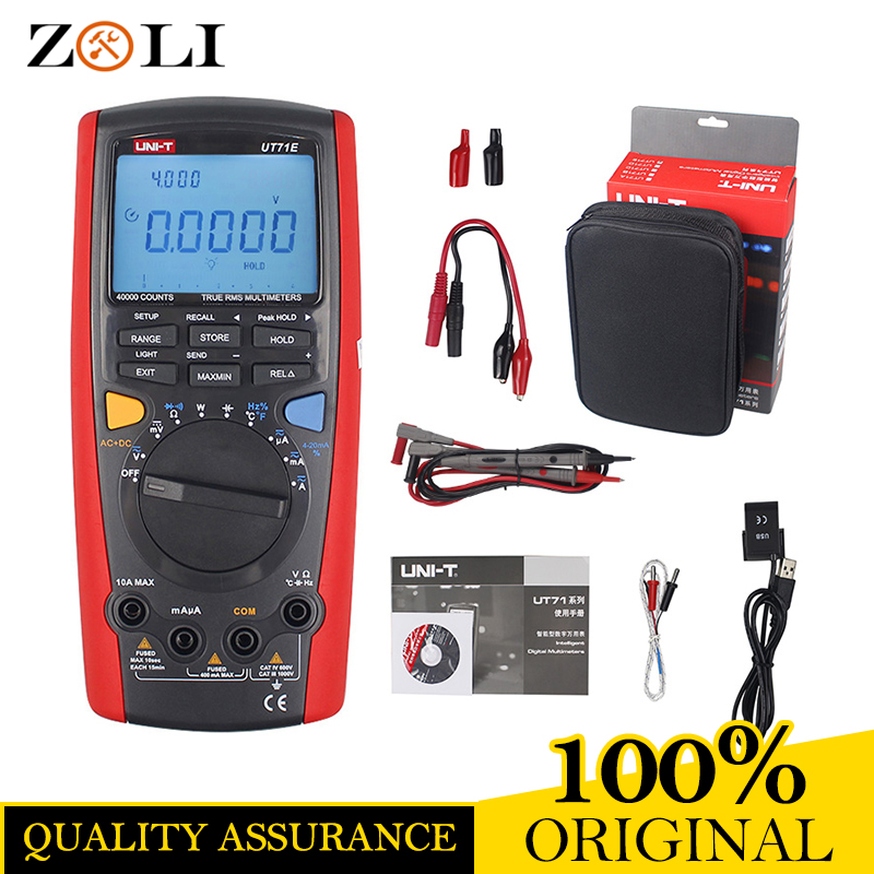 ON SALE UNI-T UT71A UT71B UT71C UT71D UT71E Digital Multimeter With USB Interface Frequency TesterMeter power 2500W USB true RMS цена