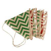 3 м 12 шт. рифленая из натурального джута флаги баннер гирлянды свадебные для рождественской вечеринки украшения