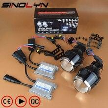 Sinolyn Биксеноновые Противотуманные фары объектив 2,5/3,0 полный комплект H11 ксенон HID проектор Противотуманные фары бифокальные линзы для автомобилей Аксессуары для модернизации