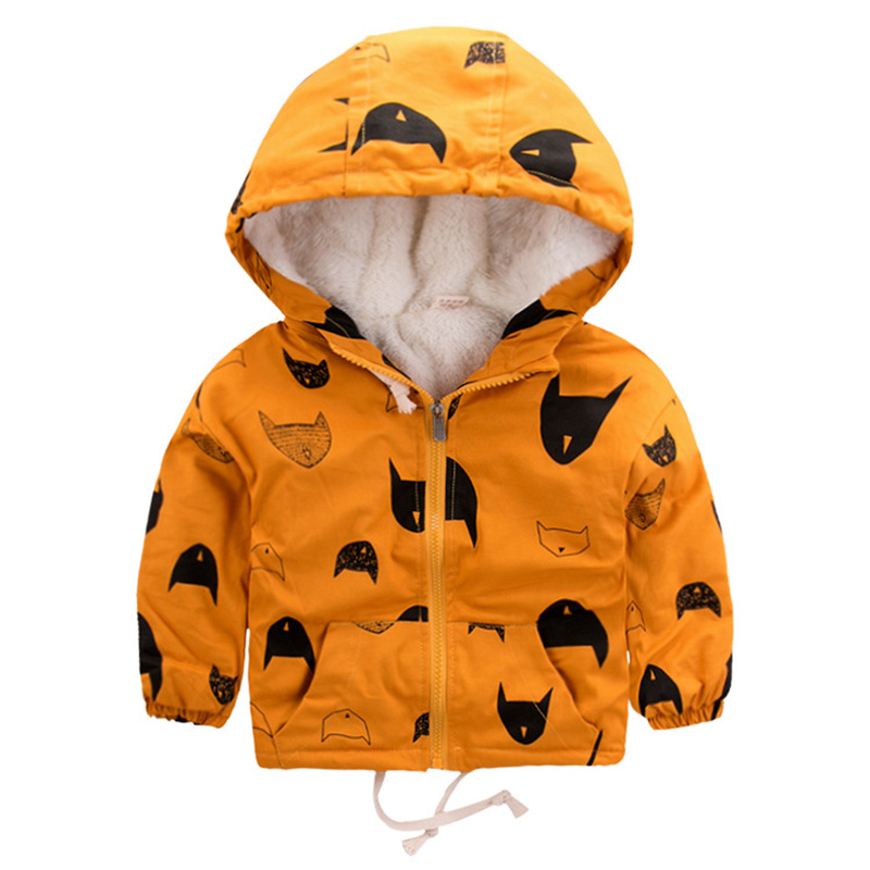Baby Boys Jackets 2019 Winter Fleece Kids Jacket Coat Warm Hooded Windbreaker Outerwear Children Clothing 2 3 4 5 6 7 8 9 Years(China)
