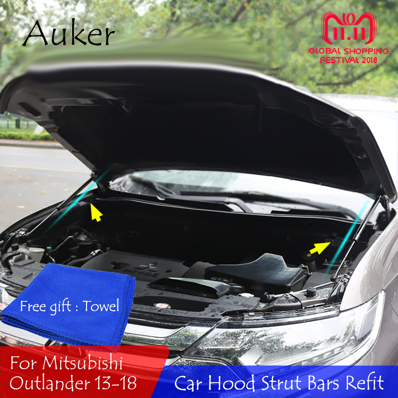 For 2013 2014 2015 2017 2018 Mitsubishi Outlander Front Hood Engine Supporting Hydraulic rod Strut Spring Shock Bars BracketFor 2013 2014 2015 2017 2018 Mitsubishi Outlander Front Hood Engine Supporting Hydraulic rod Strut Spring Shock Bars Bracket