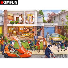 HOMFUN 5D DIY Diamond Painting Full Square/Round Drill House scenery Embroidery Cross Stitch gift Home Decor Gift A08409 homfun 5d diy diamond painting full square round drill house scenery embroidery cross stitch gift home decor gift a08417