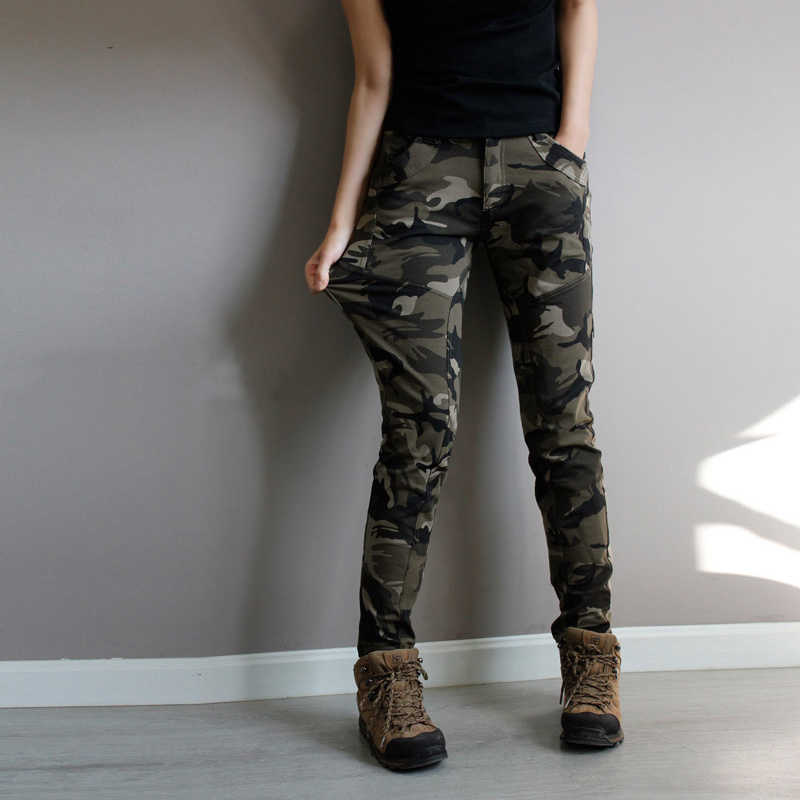 27d683231cd5b Super Quality Army Green fatigue Camouflage Cargo Pants plus size High Stretch  Jeans Femme Skinny Denim