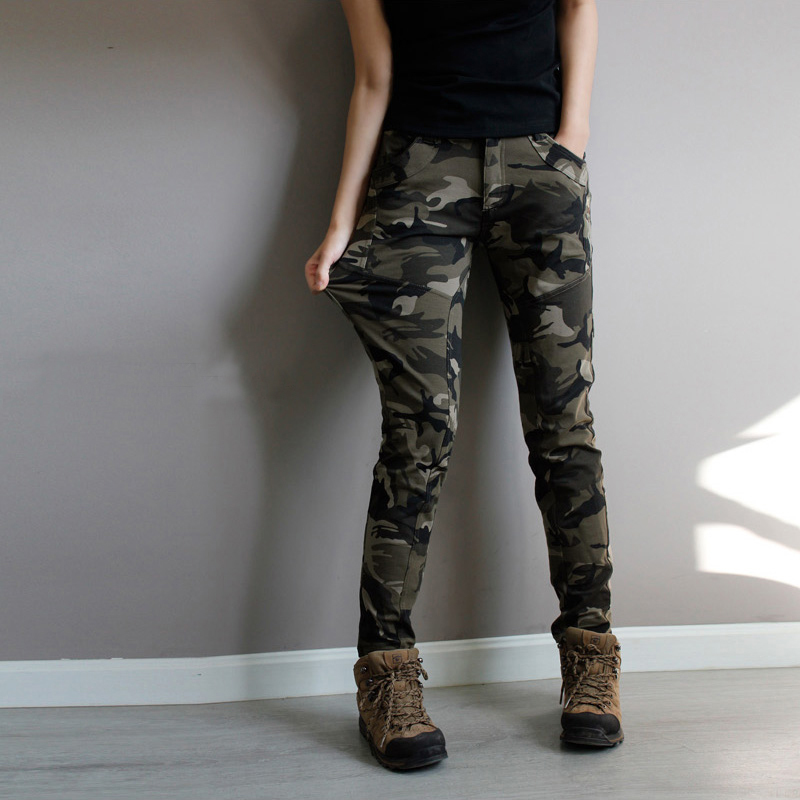 Online Buy Wholesale camouflage cargo skinny jeans for women from ...
