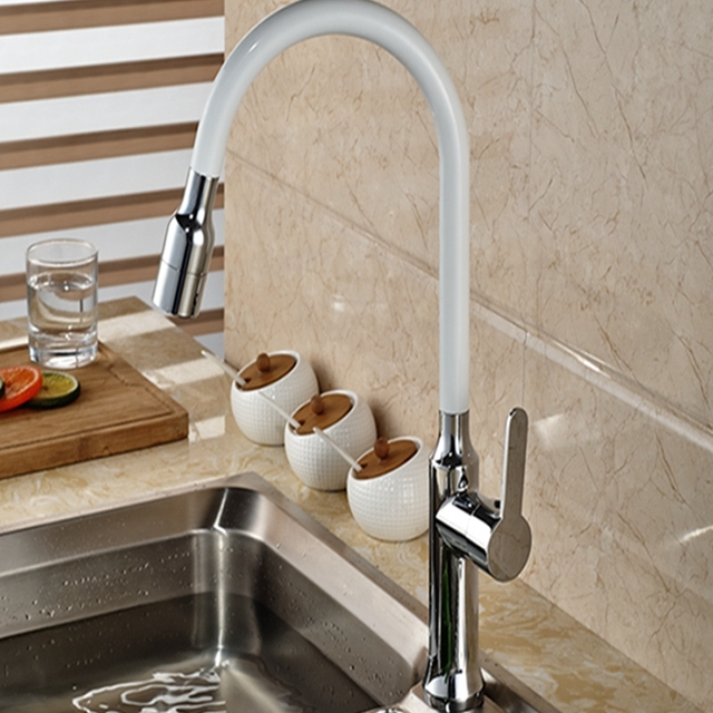 Wholesale And Retail Tall Solid Brass Kitchen Faucet Pull Out